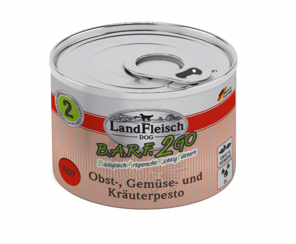 Landfleisch B.A.R.F.2Go Pesto Rot 200g