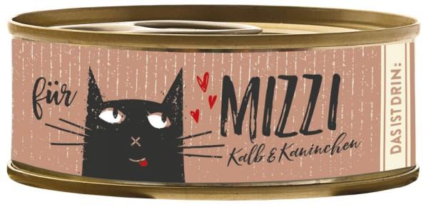Bubeck Mizzi Kalb & Kaninchen 100g Katzenfutter