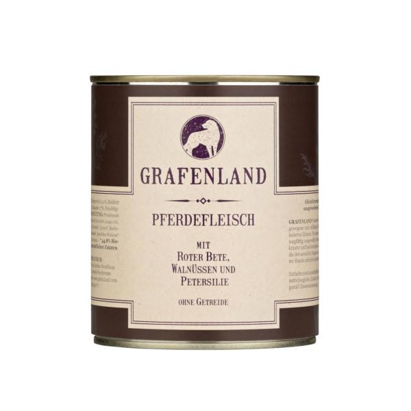 Grafenland Pferdefleisch mit Roter Bete, Walnüssen und Petersilie