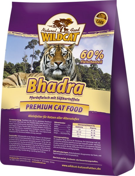 Wildcat Bhadra Katzenfutter 3kg