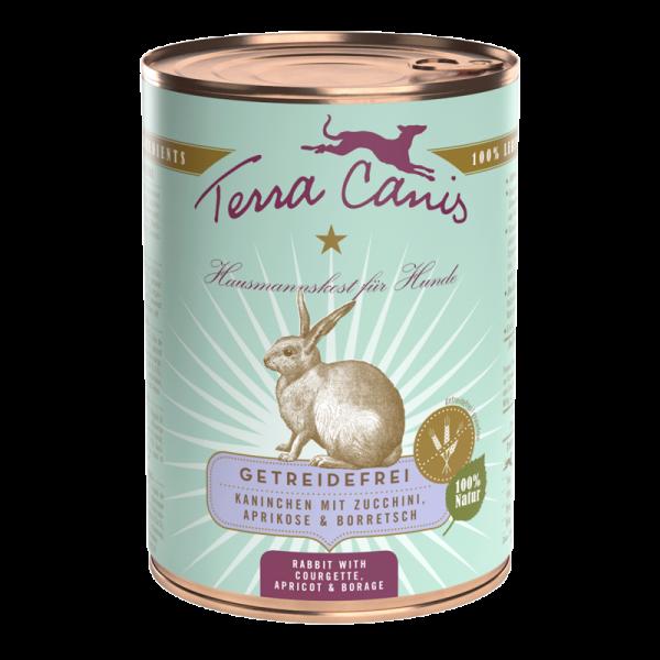 Terra Canis Menü getreidefrei Kaninchen mit Zucchini, Aprikose & Borretsch