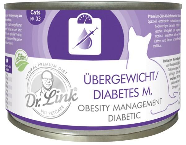 Dr. Link Übergewicht Diabetes 200g für Katzen