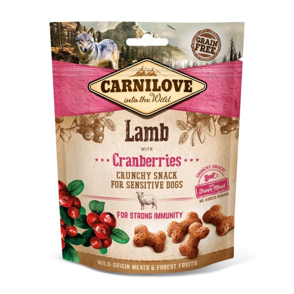 Carnilove Crunchy Snack Lamb Cranberries 200g