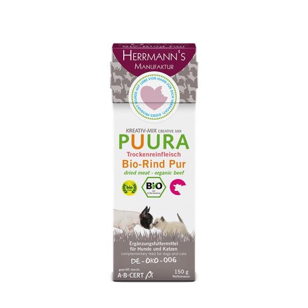 Herrmanns Puura Bio-Rind Trockenfleisch Pur