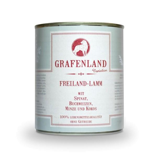 Grafenland Variation Freiland Lamm mit Spinat, Buchweizen, Minze und Kokos