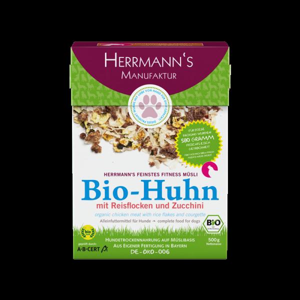 Herrmanns Fitnessmüsli Bio-Huhn mit Reis