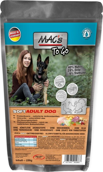 MACs Dog Soft Grain Free to go 230g