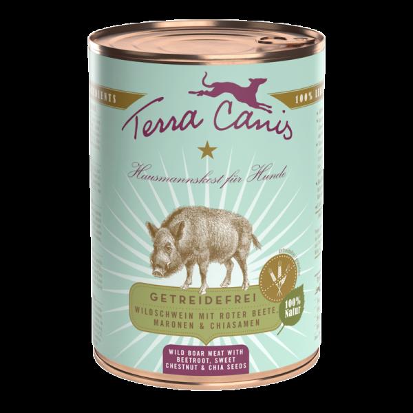 Terra Canis Menü getreidefrei Wildschwein mit Roter Beete, Maronen & Chiasamen