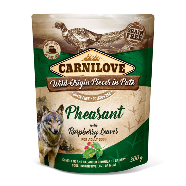 Carnilove Pate Pheasant with Raspberry Leaves 300g