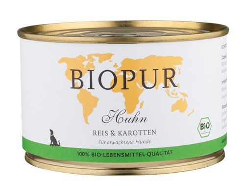 BIOPUR Huhn mit Reis & Kartotten für Hunde