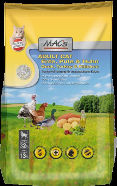 Macs Katzenfutter Ente, Pute & Huhn Adult 300g