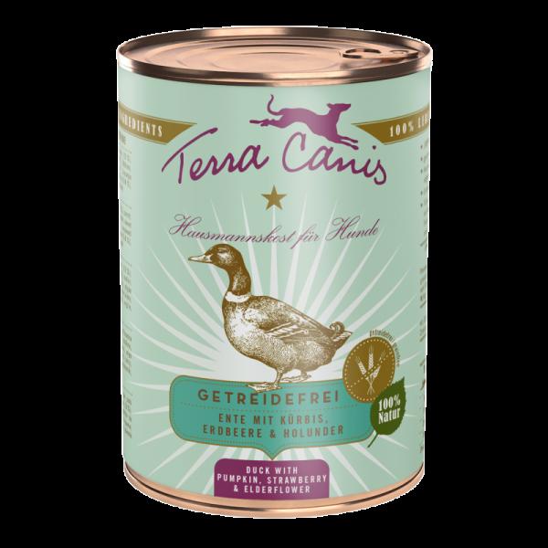 Terra Canis Menü getreidefrei Ente mit Kürbis, Erdbeeren & Holunder 400g
