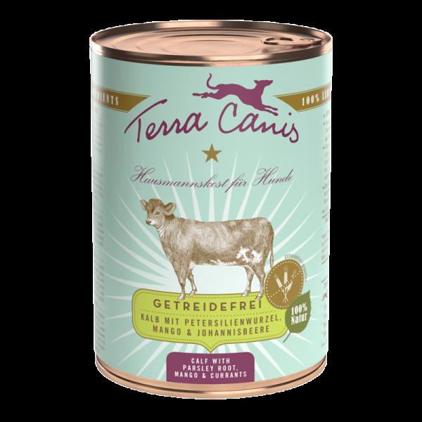 Terra Canis Menü getreidefrei Kalb mit Petersilienwurzel, Mango & Johannisbeere