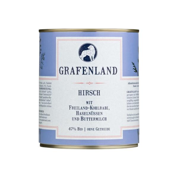 Grafenland Variation Hirsch mit Freiland-Kohlrabi, Haselnüssen und Buttermilch