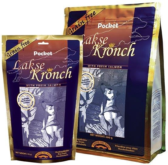Henne Pet Food Kronch Lachs-Snack Pocket