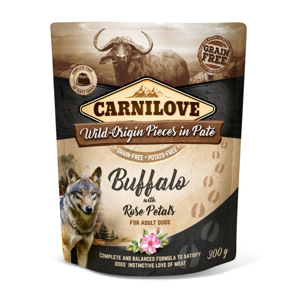 Carnilove Pate Buffalo with Rose Petals 300g