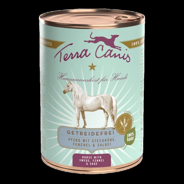 Terra Canis Menü getreidefrei Pferd mit Steckrübe, Fenchel & Salbei