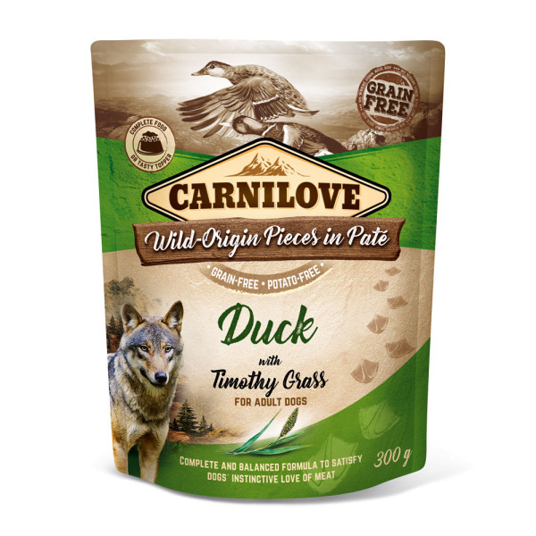 Carnilove Pate Duck with Timothy Grass 300g