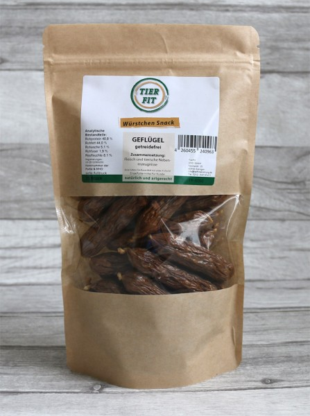 TierFit Würstchen Snack Geflügel 25 Stück