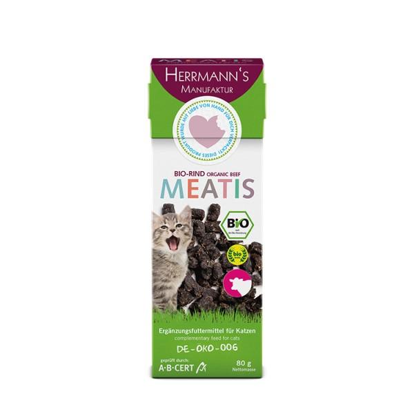 Herrmanns Katze Meatis Bio-Rind 80g