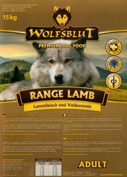 Wolfsblut Range Lamb 15kg Trockenfutter