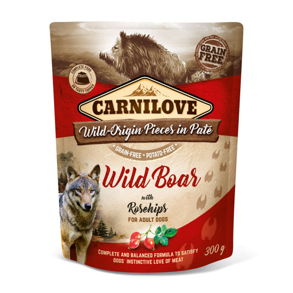 Carnilove Pate Wild Boar with Rosehips 300g