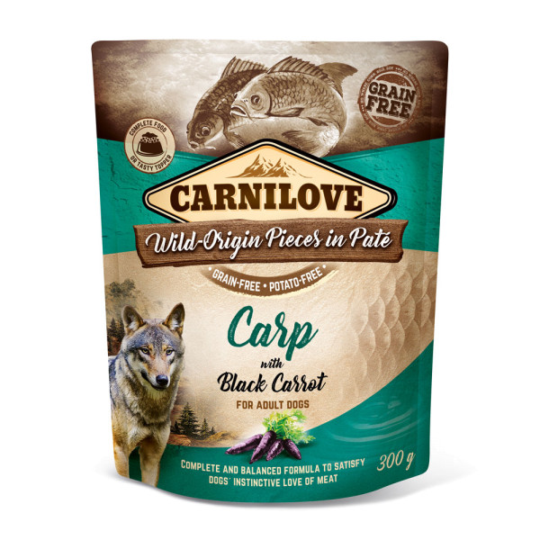 Carnilove Pate Carp with Black Carrots 300g