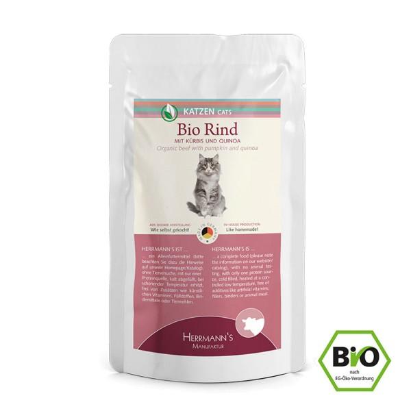 Herrmanns Bio Rind mit Kürbis und Quinoa für die Katze