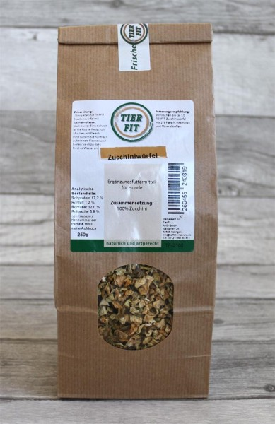 TierFit Zucchiniwürfel