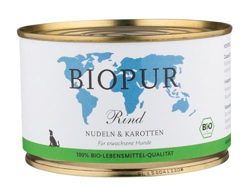 BIOPUR Rind mit Nudeln & Karotten für Hunde