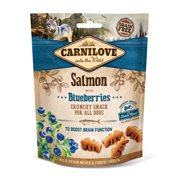 Carnilove Crunchy Snack Salmon with Blueberries 200g